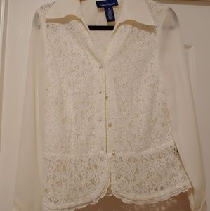 Gorgeous lace overlay top perfect for wedding